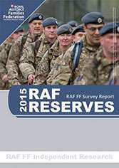 Image showing the front cover of the 2015 RAF Reserves report.