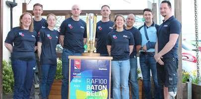 RAF100 RAF Baton triathletes