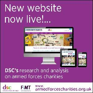 New website gone live poster for Armed Forces Charities