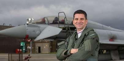Flt Lt Jim Peterson, Typhoon Display Pilot 2018