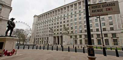 Image of the MOD main building in Whitehall, London