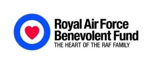 RAF Benevolent Fund logo with strapline, The heart of the RAF family