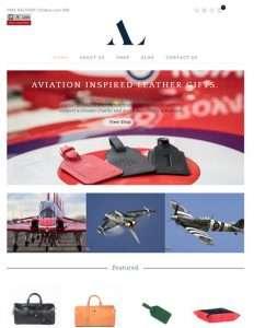 Screendrop of ASALI Designs' website