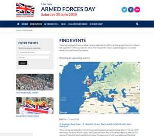 Screenshot of the Armed Forces Day website