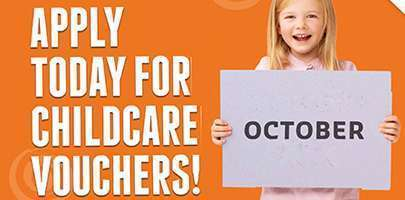 Childcare reminder with banner saying October!