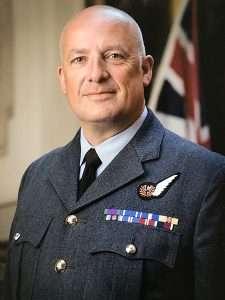 Flt Sgt Jon Tweedle in No 1 uniform