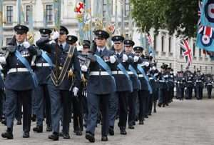 Over 1,000 RAF servicemen and women will perform a ceremonial parade, along with almost 300 personnel lining the route representing the diverse roles played within the RAF through the generations