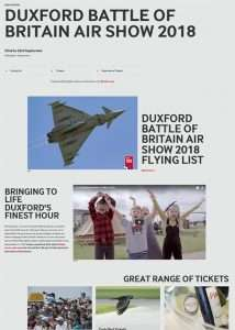 Screendrop of the Duxford Air Show website