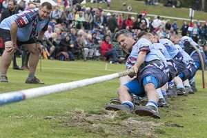 Air Command Tug-of-War Team pulling their way to the Braemar Plate final