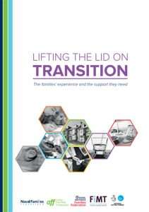 Front cover of the Tri-Service FiMT report - called Lifting the Lid on Transition