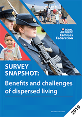 Image showing the front cover of the Survey Snapshot report - Benefits and challenges of dispersed living.