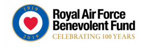 RAF Benevolent Fund's Logo branded with the centenary celebratory edging.