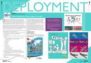 Screenshot of an article in the Spring edition of Envoy '19 - entitled 'Deployment'