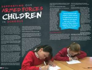 A screenshot of the first two pages of the article in the Spring edition of Envoy magazine.