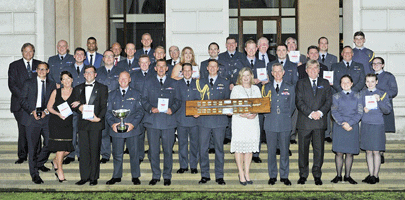 Image shows last years winners at the RAF Benevolent Fund Awards