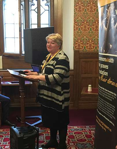 Image of the Director General, Victoria Wallace providing the opening speech at the launch event, held in the House of Lords on 30 April 2019.