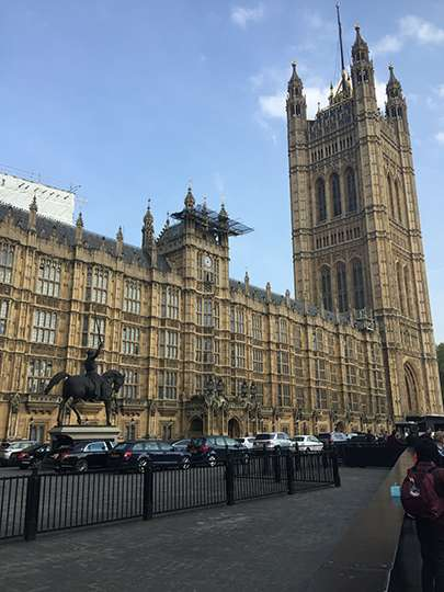 Image of the front of the House of Lords, taken by the RAF FF on arrival at the event.