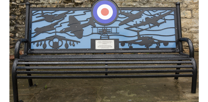 the new bench in Stamford
