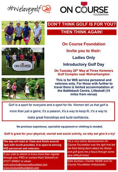 Image shows Ladies Introductory Day 2019 poster