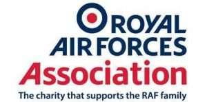 Image shows RAF Association logo
