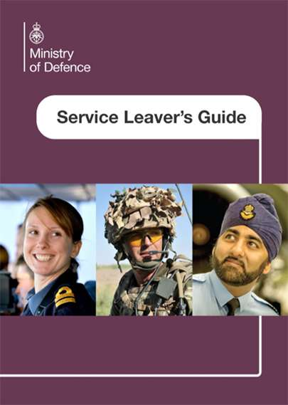 Image of the front cover of the Service Leavers' Guide