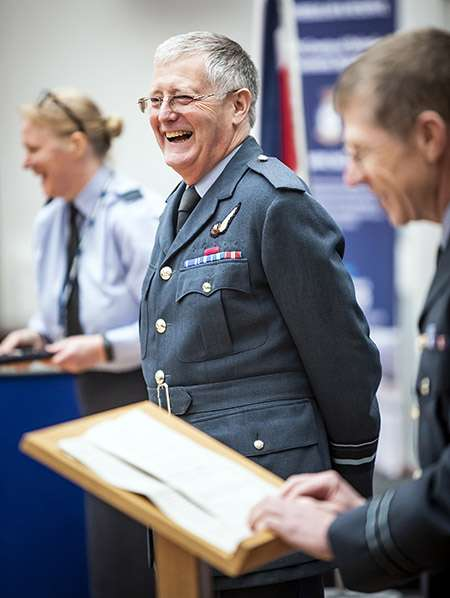 Image of Reviewing Officer, AVM Martin Routledge CB RAF