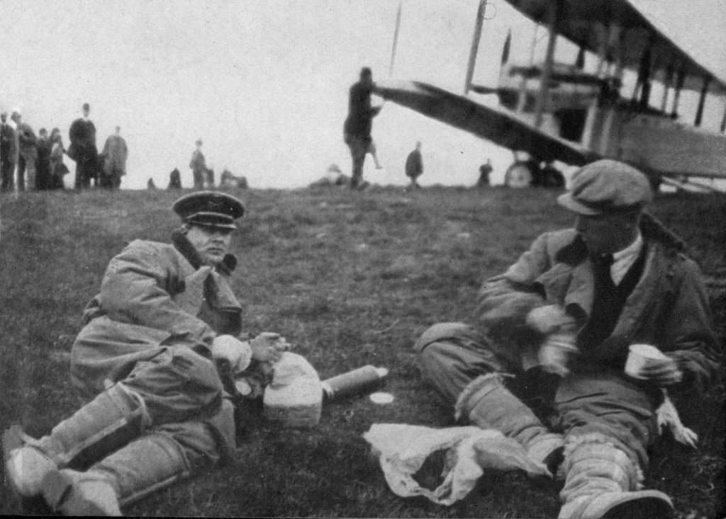 Alcock and Brown before the Atlantic Flight.