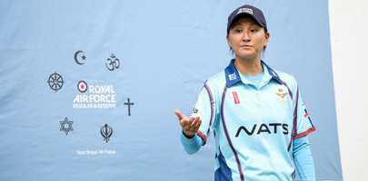 Corporal Eli Dey speaking about the roles women play in the Royal Air Force as well as her journey through cricket within the Armed Forces