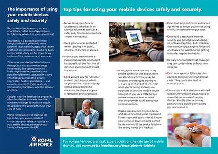 Get safe online leaflet infographic