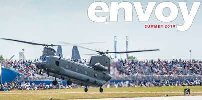 Cropped image of the Summer edition of Envoy (Front cover)