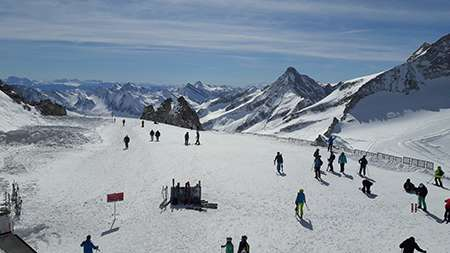 Hintertuxer Gletscher – cable car only access to the top of the glacier (3250m).