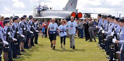 Image shows RAF Museum Trustee Nick Sanders and Museum Ambassador Robin Southwell