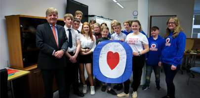 Image thirteen members of Airplay met at the RAF Benevolent Fund's London head office