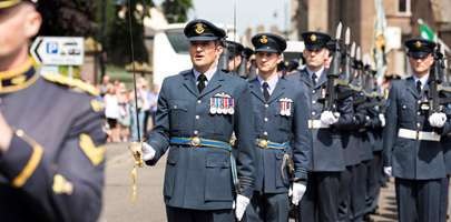 RAF Lossiemouth marching