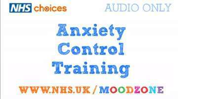 Screenshot of the Anxiety Control Training audio clip