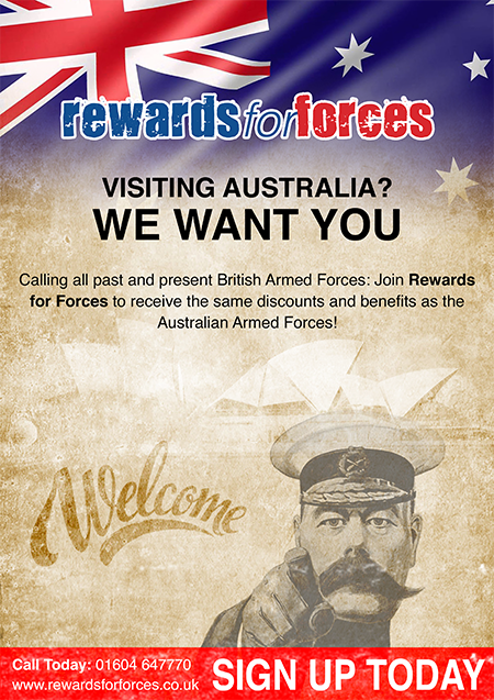 Rewards for Forces has joined forces with Australian Military Rewards Scheme to reward those that have served the Commonwealth with access to thousands of exclusive discounts available in Australia.