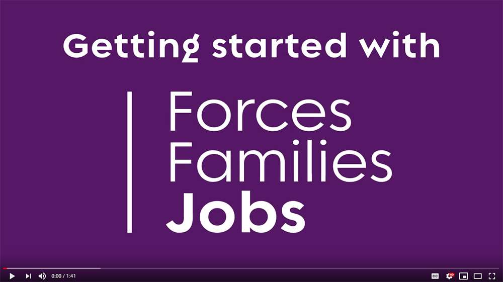Forces Families Jobs Promo Video