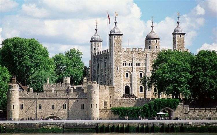 Image showing the tower of London, taken from the south side of the River Thames