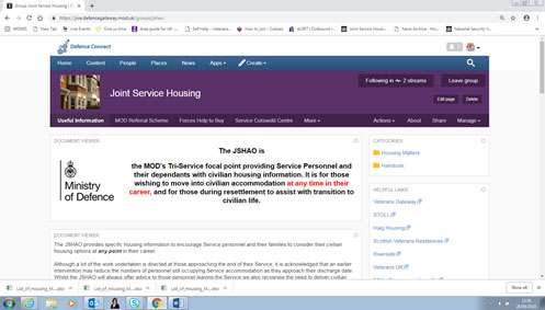 The Joint Service Housing is now available on Defence Connect