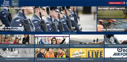 Screengrab of the RAF FF website for October '19.