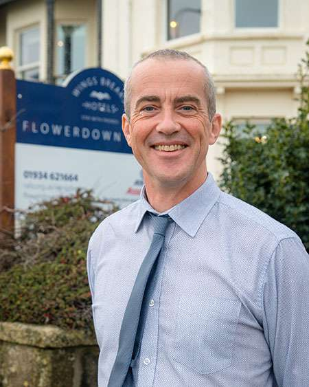 Nick Rickwood, Manager of Flowerdown House in Weston-super-Mare.