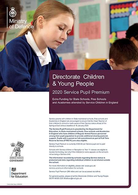 2020 Service Pupil Premium poster