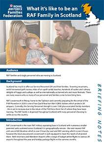 Briefing note. What it's like to be an RAF Family in Scotland