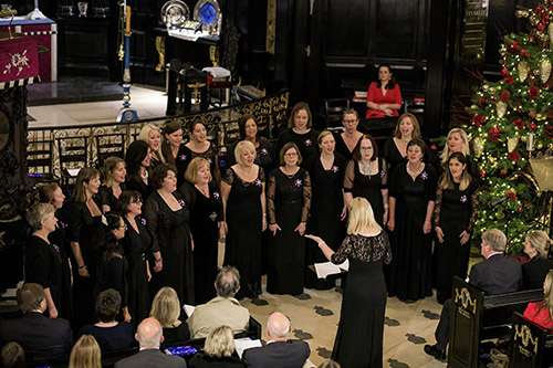 Military Wives Choirs singing in St Clement Danes