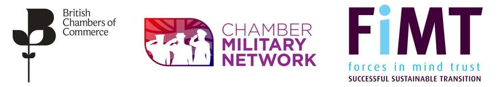 British Chambers of Commerce, Chamber Military Network and Forces in Mind Trust logos