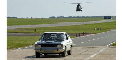 Image Jamie & Jimmy in the Ford Capri at RAF Wittering.