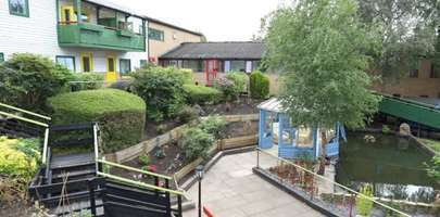 Image showing one of the Launchpad houses and its back garden/outside area.