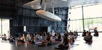 Yoga at RAF Museum, London