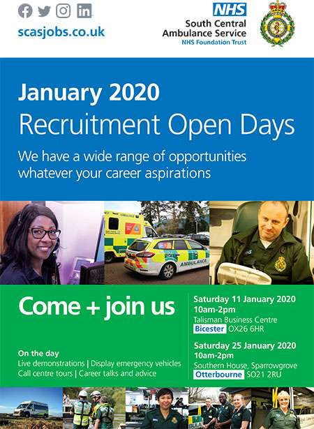 Recruitment Open Days January 2020 poster