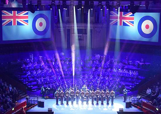 The RAF100 Centenary Gala at the Royal Albert Hall on Saturday 31st March celebrated the RAF's 100th birthday.